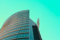 Architektura zdjęcie wysokiego budynku w Warszawie